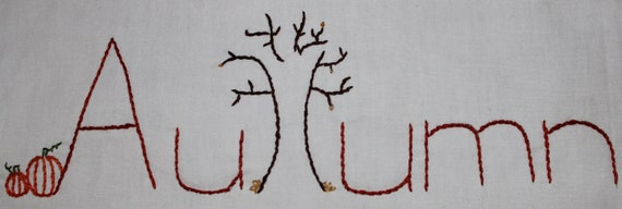 Hand Embroidery pattern Four Seasons Spring Summer Autumn Winter original Purrfect Stitchers designs