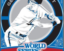 George Brett  - 1985 World Series Champions Kansas City Royals Baseball Screen Print