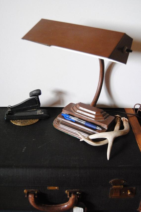 Art Deco Desk Lamp - Metal Brown Industrial Drafting Office Home Lighting Decor