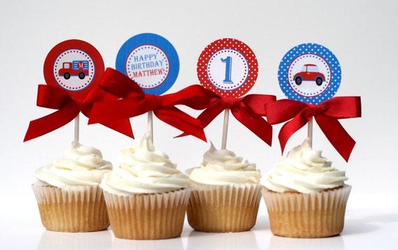 Birthday Cupcake Toppers - BEEP BEEP Printable