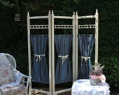 Handmade Privacy Screen / Room Divider, Solid Wood, Hand Painted.