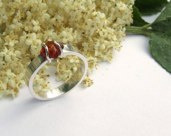 Caged Amber Ring