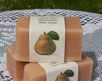 Asian Pear Lily Beer Soap