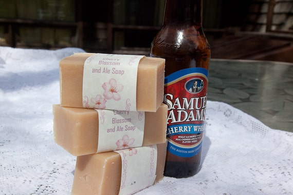 Cherry Blossom and Ale, Beer Soap