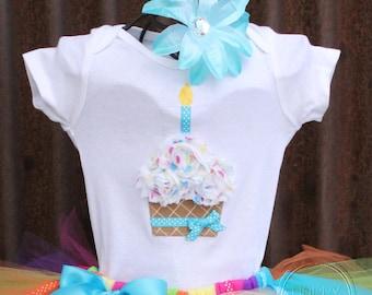 BIRTHDAY BLAST--Birthday Cupcake Bodysuit or Shirt Only, sizes Newborn-5T
