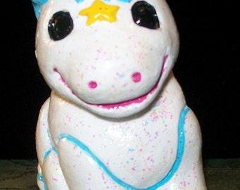 Handpainted Plaster Unicorn
