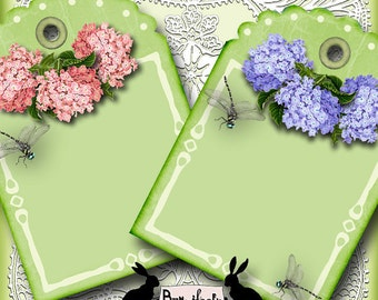 my english garden - digital download, gift tags, gift tag