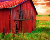 Barn, Rustic, Country, Red, Fine Art, Photograph, Fall, Barb Lassa, Wisconsin