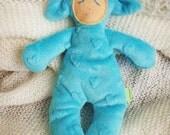 blue lamby - super soft stuffed toy -