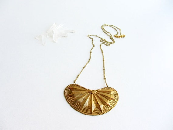 Golden antique brass vintage necklace