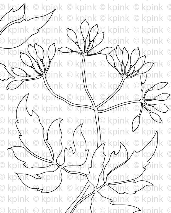 Floral Nouveau - I Dig Digi Stamp