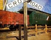 Fine Art Photo Railroad Crossing Sign
