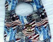 Baby/Todder Bib - Reversible Bab/Toddler  Bib - Patriotic Bib - Red, White and Blue - Unisex
