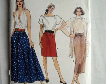 Very Easy, Very Vogue Skirt in Three Lengths, Vogue Pattern 9882, Very Flattering, 1980s