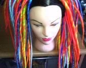 Dragons Breath Long Dreadlock Dread Falls 100 Ct  Flame Orange Yellow Purple Blue White Marbled Hair Accessory