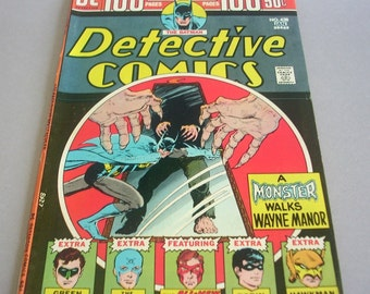"Vintage Batman Detective Comics, Vol. 37, No. 438 ""A Monster Walks Wayne Manor"", January 1974, DC Comics"