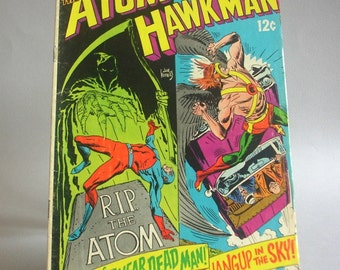 "Vintage The Atom and Hawkman Comic Book No. 41, ""Return of the 7 Year Dead Man, Yo Yo Hangup in the Sky"", March 1969, DC Comics"