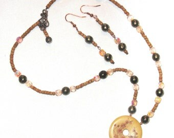 Asian Blossoms Necklace Set