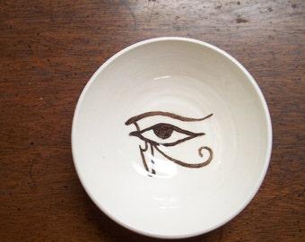 Egyptian eye in a little bowl