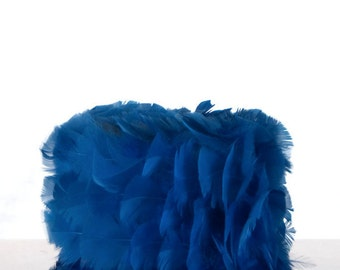 1950's Feeling Blue Feathered Hat