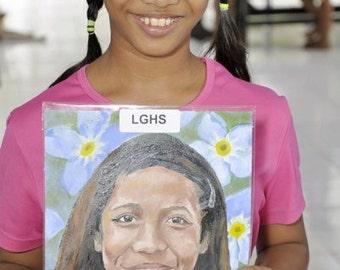 Portrait painted on commission
