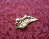 2 Vintage Brass Leaf  Stamping (large)