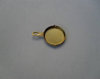 3 Vintage Brass Frying Pan Stamping    ...   B - 3