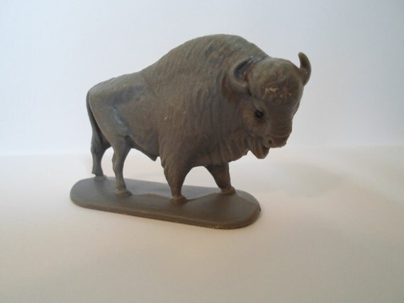 vintage plastic toy buffalo made in W .Germany