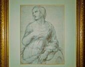 Set of 4 MASTER DRAWINGS in GILDED Frames