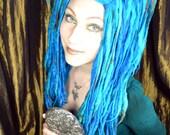 Mermaid ELFLOCKS Dreadlocks Dread Falls in Blue/Green/Brown for Cosplay, LARP, Clubbing, Tribal Belly Dance, Festivals, Alt Fashion, Goth