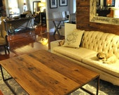 the ADAMS Coffee Table - Reclaimed Barn Wood Coffee Table