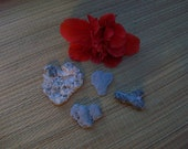 Heart and arrow shaped ocean rocks, beach stones, crafting supplies, coastal beach decor (Lot 89)