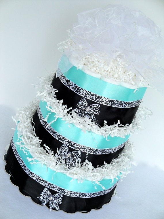 Items Similar To Diaper Cake Light Turquoise Blue