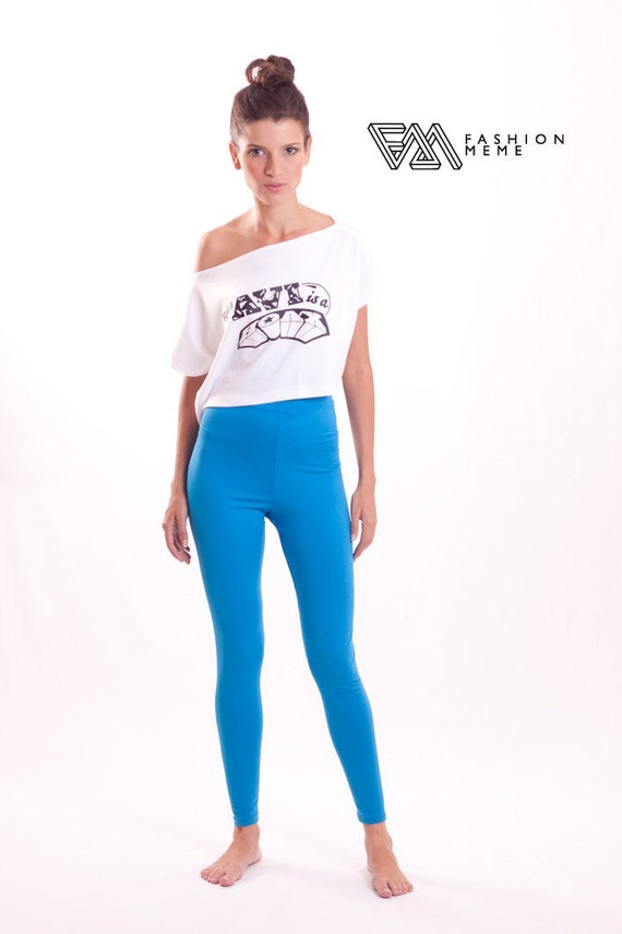 Items similar to Yoga Pants Bright Blue Stretch Jersey on Etsy