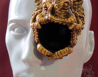 Cthulu - bronze monocle prosthetic
