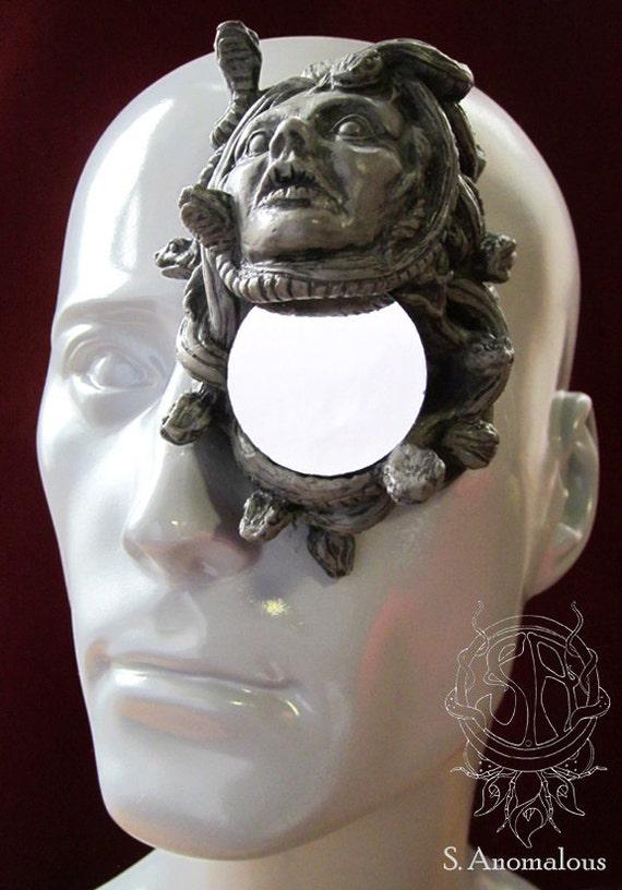 stone Medusa latex monocle prosthetic