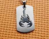 scorpion necklace,scorpion pendant, could separation to 2,silver necklace,Titanium steel pendant