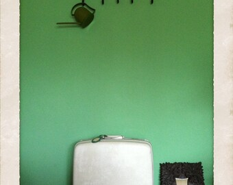 Samsonite Silhouette Off White Marbled Suitcase for Upcycling -Vintage-