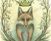 "Print - ""Empress Fox"""