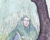 "11x14 print - ""Between the Oak Trees"""
