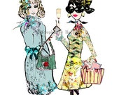 Best Friends - Fashion Illustration Art Print