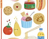 Items similar to Junk Food Clipart/ Digital Collage ...