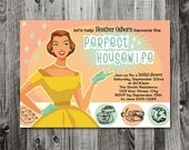 Custom Invitation for Alicia  - The Perfect Housewife  -  Printable Bridal Shower INVITATION