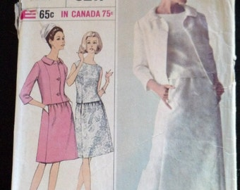 6217 Simplicity Vintage Easy Sewing Pattern 1967 1960's Mad Men Women's Skirt Suit Cut Incomplete