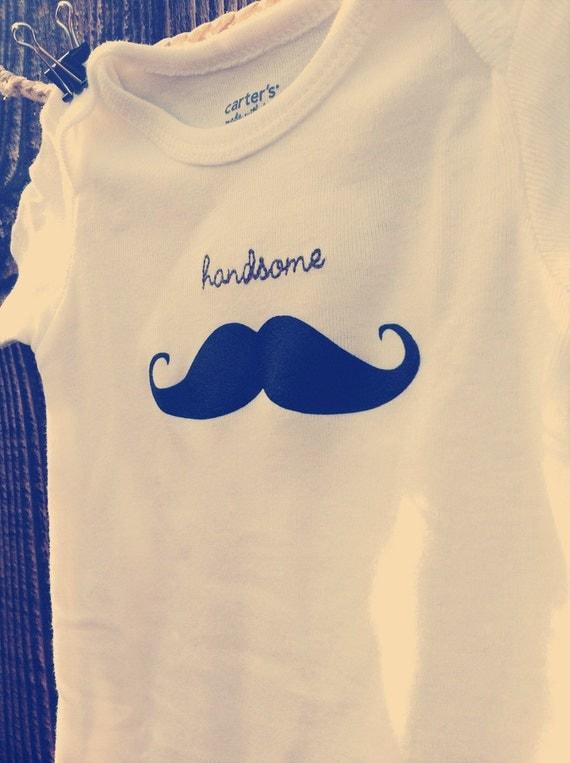 Mustache Handsome Onesie - Baby Boy 3M