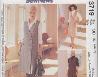 McCall's 3719 - UNCUT, OOP Misses' Jumper & Blouse Sewing Pattern, Sz 12-18