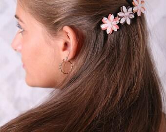 Women hair accessory, Women barrette, Womens gifts, Flower barrette, Flower hair clip, Women hair clip, Flower clip, Women birthday gift