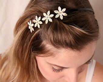 Mint headband, Flower hairpiece, Flower headband, Vintage headband, Mint accessories, Pastel headband ,Metal headband, Elegant headband