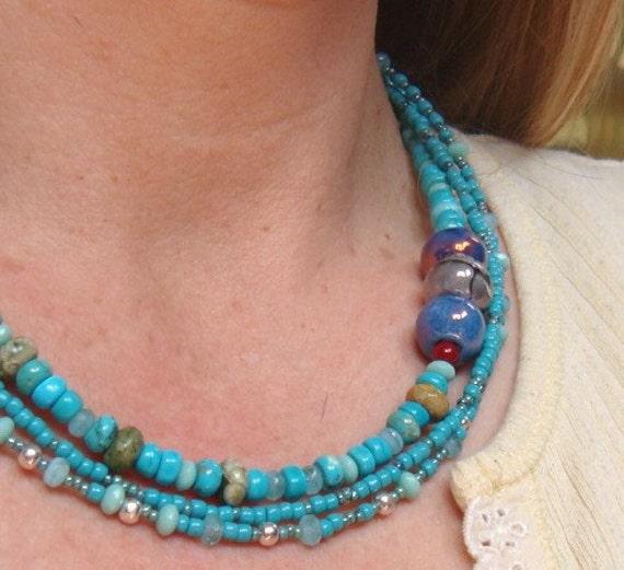 Boho Southwestern Jewelry Necklace And Earring Set