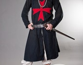 15% DISCOUNT! Knight Crusader Templar Medieval Tunic with Cross